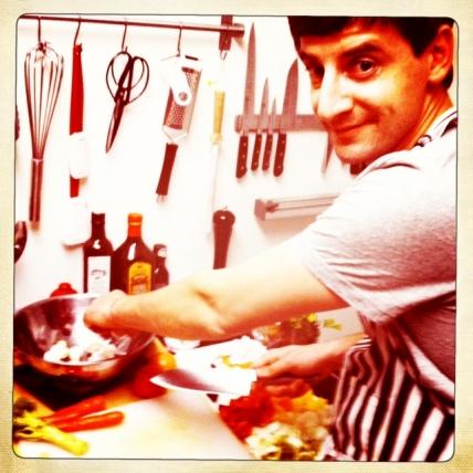 Wayne cooking