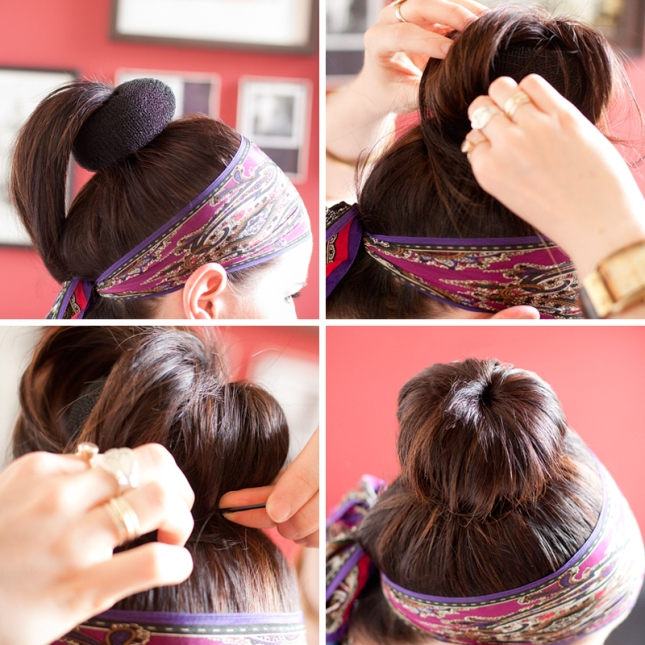 how to make a hair bun T16dTS38