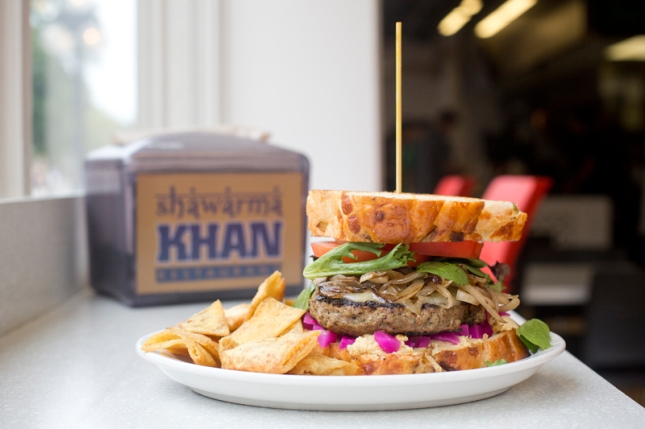 Shawarma Khan for Burger Week Winnipeg 2014 © Charcoal Collaborative