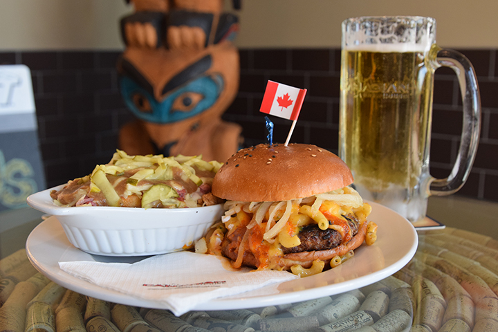 The Canadian Brewhouse The Triple Eh Burger
