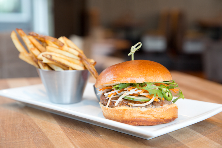 Chop Steakhouse and Bar The Bahn Mi Burger © Charcoal Collaborative