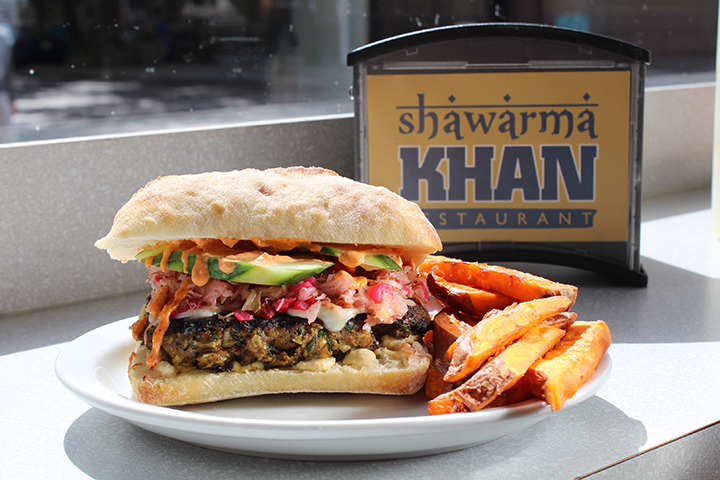 Shawarma Khan The Khan Kebab Burger