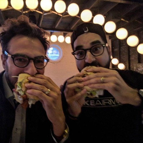 The creators of Le Burger Week, Thierry & Na'eem! / Photo Credit @thierryrassam