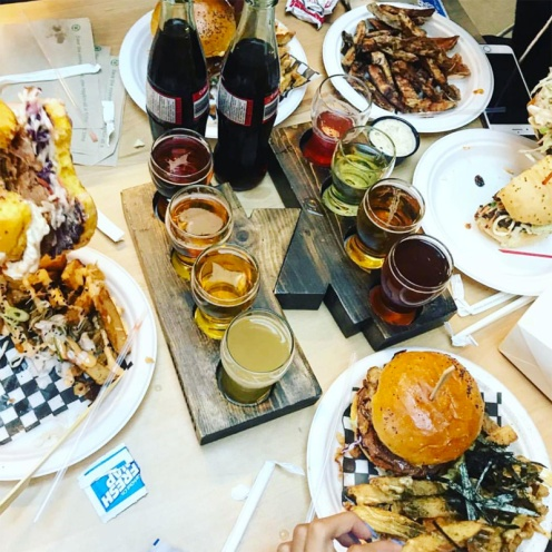 """(The Forks) Nuburger """"Fool's Paradise"""" and Kyu Grill """"Mr. Fuji's Harvest Burger"""" / Photo Credit @thecommonwpg"""